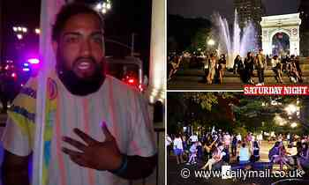 Organizer of Washington Square raves says it's his 'First Amendment right to be there'