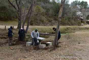 San Luis Agua trabaja en la puesta en valor de un espacio cercano al acueducto Vulpiani - Agencia de Noticias San Luis