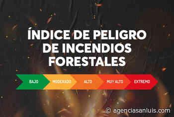 San Luis comienza a medir el índice meteorológico de peligro de incendios forestales - Agencia de Noticias San Luis