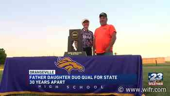 Orangeville father-daughter duo qualify for state 30 years apart - WIFR
