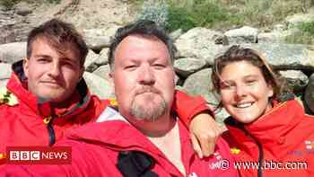 Cornwall rip current rescue man tells how he nearly died - BBC News