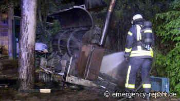 18.06.2021 – Dormagen – Barbecue-Smoker brannte in voller Ausdehnung - Emergency-Report.de