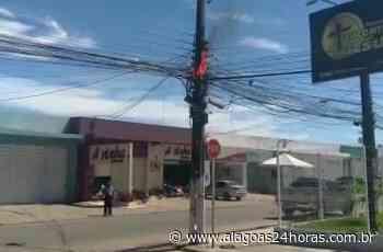 Poste pega fogo em Maragogi e bombeiros são acionados - Alagoas 24 Horas