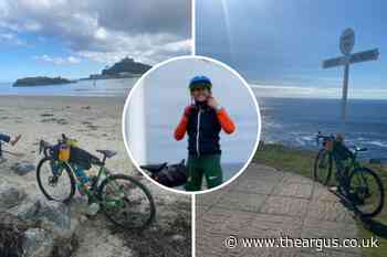 Sussex teacher cycles length of UK to help two charities