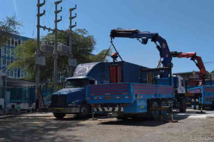 Piura: EsSalud recibe 4 plantas de oxígeno para hospitales de Sullana y Cayetano Heredia - Agencia Andina