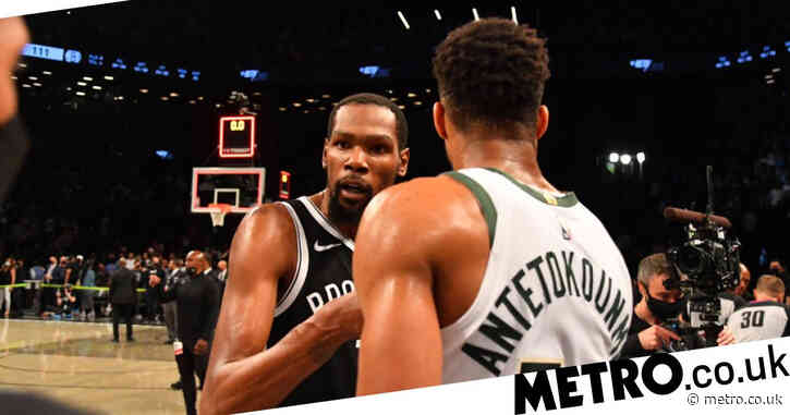Giannis Antetokounmpo praises 'best in the world' Kevin Durant after Bucks beat Nets as KD laments his 'big-ass foot'