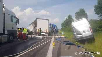 Schwerer Unfall auf A63 bei Kirchheimbolanden - Autobahn gesperrt - SWR