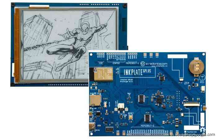 Inkplate 6PLUS Wi-Fi e-paper display passes funding goal