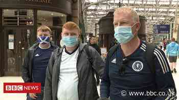 Euro 2020: Scotland fans return home from England game