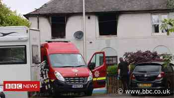 Man dies after fire tears through Dunblane house