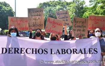 Profesores de Cuautla continúan manifestándose - El Sol de Cuernavaca