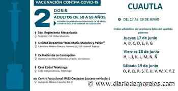 Inició este jueves jornada de vacunación en Cuautla; concluirá el sábado - Diario de Morelos