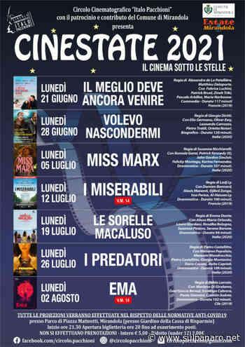 Cinema estivo a Mirandola, al via Cinestate 2021 - SulPanaro