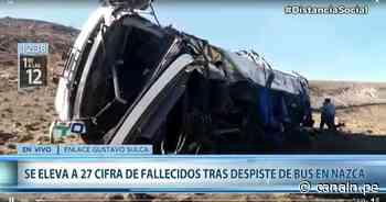 Ica: 27 muertos tras despiste de ómnibus en Nazca - Canal N