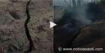 Grabaron el momento en que se desprendía parte de una barranca en isla del Paraná - Noticiasdel6.com