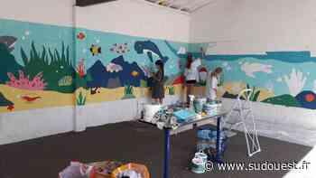 Le Barp : Une « méga fresque » de 18 m de long à l'école Michel-Ballion - Sud Ouest