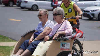 Cycling Without Age: 'Couch on wheels' gives seniors thrill of bike riding at no cost - WPVI-TV
