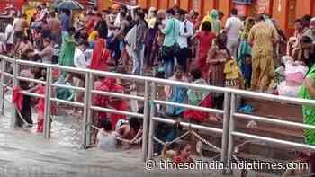 Ganga Dussehra: Devotees take holy dip in river Ganga in UP & Uttarakhand