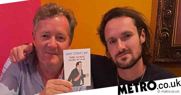 Father's Day: Piers Morgan's son Spencer mocks his Good Morning Britain walk out in savage card