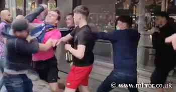 'We hate Scots chant' results in huge brawl between Scotland and England fans