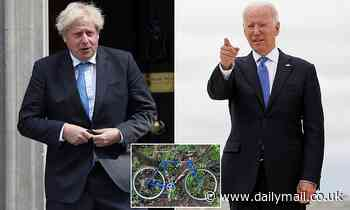 Boris Johnson gets a mini replica of the 'friendship' bicycle gifted to him by Joe Biden for Wilfred