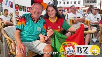Braunschweig: Portugal- und Deutschland-Fans Seite an Seite