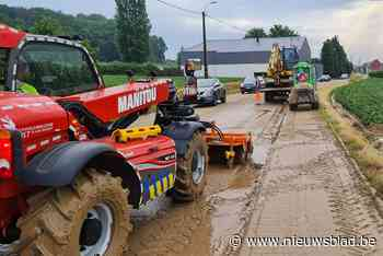 Onweer zorgt voor veel modder op de wegen - Het Nieuwsblad