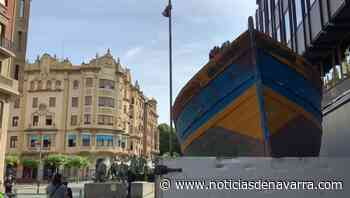 Una patera en la avenida Roncesvalles de Pamplona - Noticias de Navarra