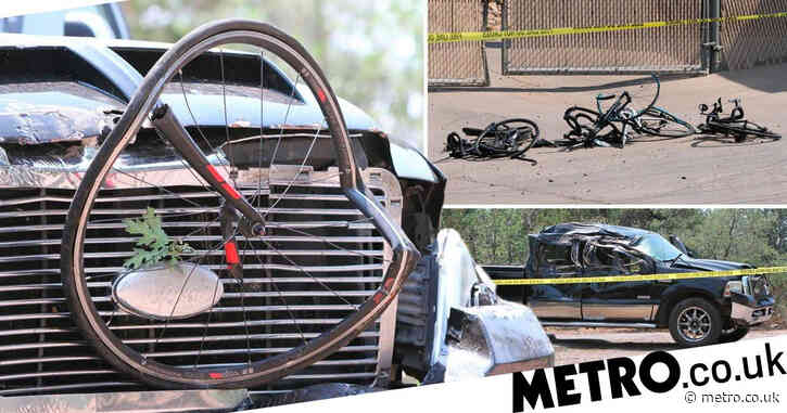 Truck driver shot by police after 'ploughing into group of cyclists'