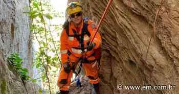 Bombeiros resgatam cão em montanha, a quase 40 metros de altura - Estado de Minas