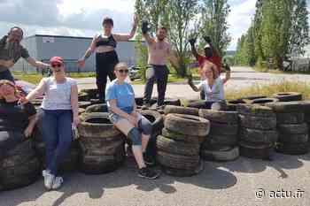 Opération de nettoyage de la nature à Val-de-Reuil : 189 pneus évacués - actu.fr