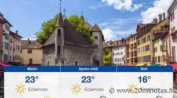 Météo Annecy: Prévisions du dimanche 20 juin 2021 - 20minutes.fr