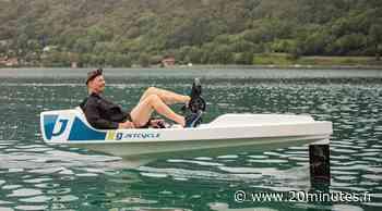 Annecy : Comment le « pédalo volant » JetCycle compte-t-il conquérir les lacs alpins? - 20 Minutes