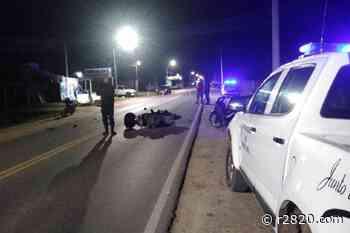 Dos motociclistas protagonizaron un fuerte choque en Pueblo Belgrano - r2820.com