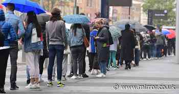Thousands of people line streets to get Covid vaccine as over-18's given jab