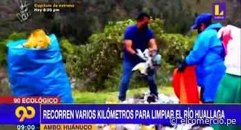 Huánuco: recorren varios kilómetros para limpiar río Huallaga - El Comercio Perú