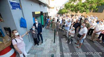 La rue René-Viale à Bastia inaugurée dans une grande émotion - Corse-Matin
