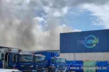 Brand en explosies bij Renewi in Houthalen