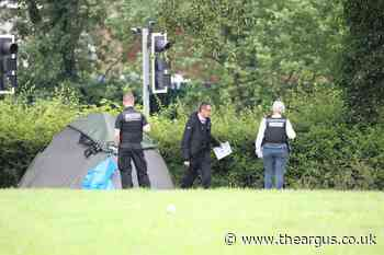 Field cordoned off after man found wounded at Three Bridges Recreation Ground