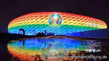 EM 2021: Regenbogenfarben zum Spiel Deutschland gegen Ungarn
