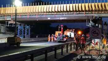 Autobahnbau Vollsperrung der A10: Sperrung der A10 zwischen Birkenwerder und dem Dreieck Oranienburg vorfristig aufgehoben - moz.de
