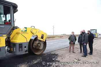 Perotti visitó las obras de ruta 70 al Oeste de Rafaela - Esperanza DíaXDía
