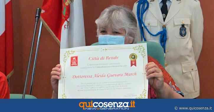 Rende, cittadinanza onoraria ad Aleida Guevara. Poi visita all'Hub vaccinale - Quotidiano online