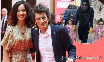 Ronnie Wood, 74, is 'daddy cool' in Father's Day tribute from wife Sally Humpreys, 43