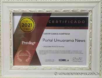 Umuarama News vence prêmio de melhor portal de notícias da cidade - Umuarama News