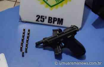 Homem é preso com pistola durante briga de bar em Umuarama - Umuarama News