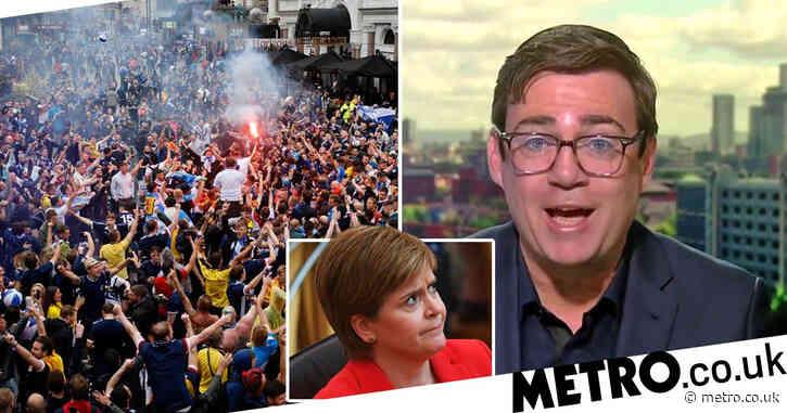 Andy Burnham calls Sturgeon 'hypocrite' after letting Tartan Army go to London