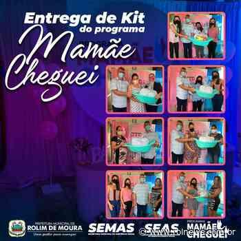 """CRAS entrega Kits do """"Programa Mamãe Cheguei"""" em Rolim de Moura - ROLNEWS"""