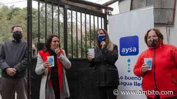 Malena Galmarini inauguró una red de agua potable en El Talar - ámbito.com