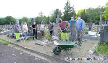 Guichen-Pont-Réan. Les bénévoles ont nettoyé les cimetières avec les agents communaux - maville.com